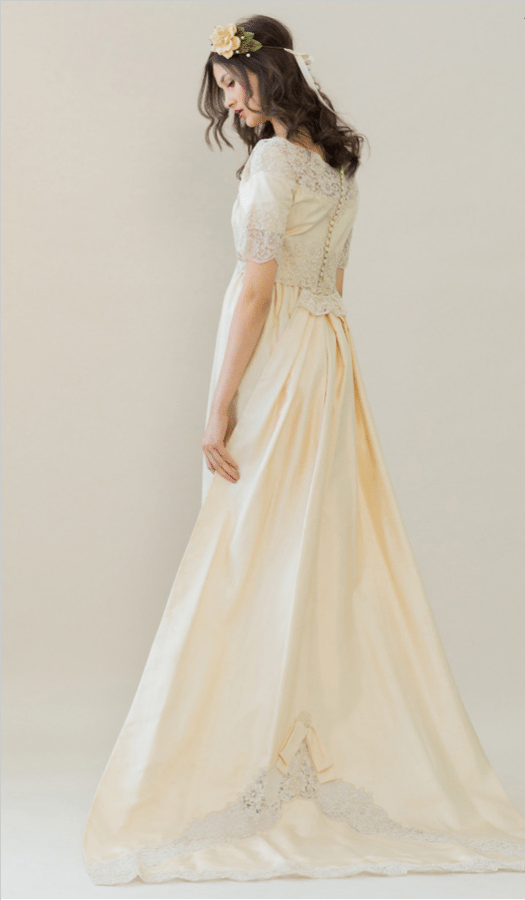 vintage rue de seine wedding dress 22 bmodish