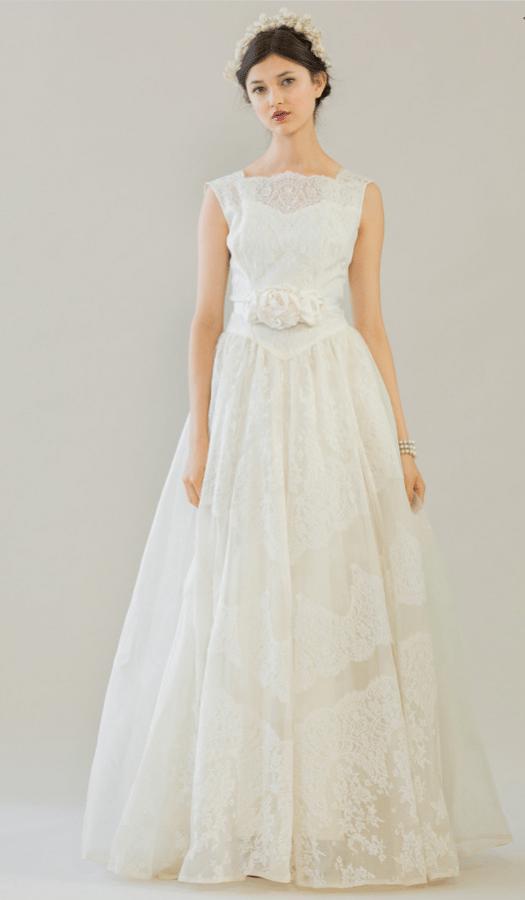 vintage rue de seine wedding dress 25 bmodish