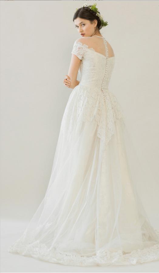 vintage rue de seine wedding dress 26 bmodish