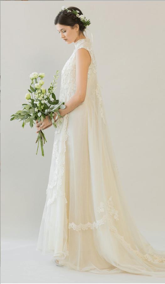 vintage rue de seine wedding dress 27 bmodish