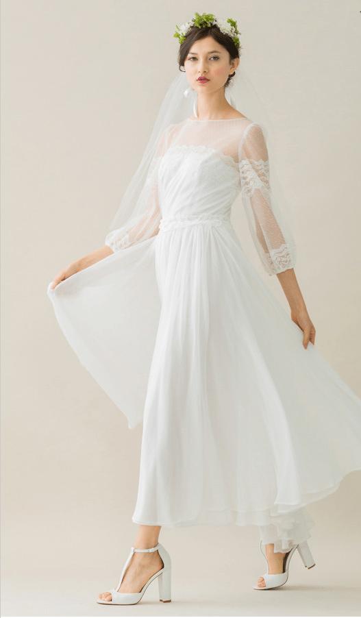 vintage rue de seine wedding dress 29 bmodish