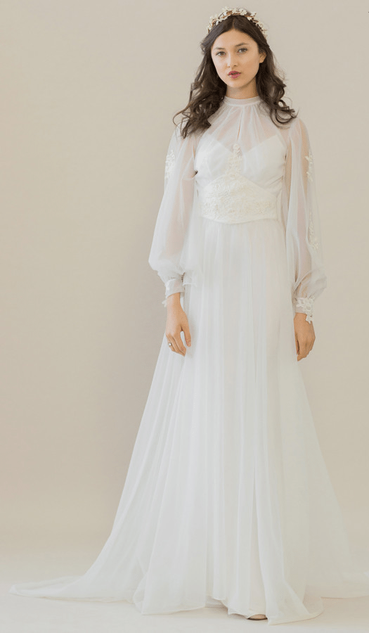 vintage rue de seine wedding dress 6 bmodish