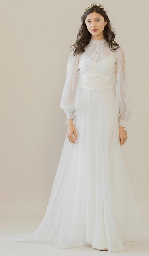 vintage rue de seine wedding dress 6 bmodish