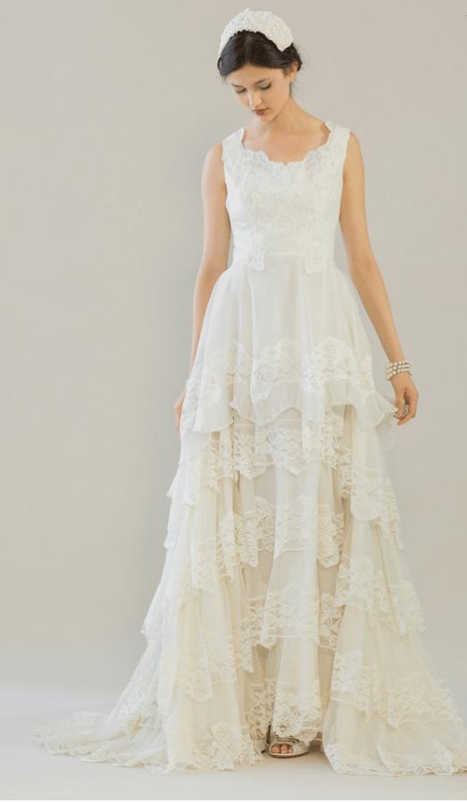 vintage rue de seine wedding dress 7 bmodish