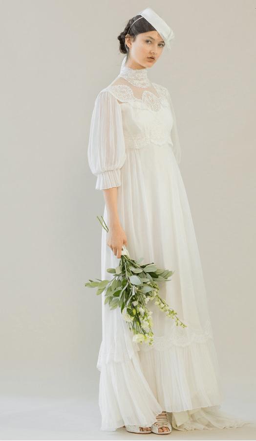 vintage rue de seine wedding dress 9