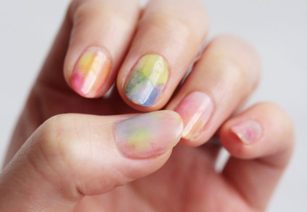 watercolor nail art bmodish