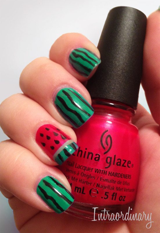 watermelon 2 nailart bmodish