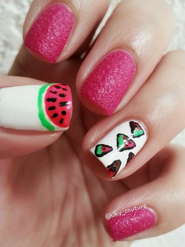 watermelon nailart bmodish