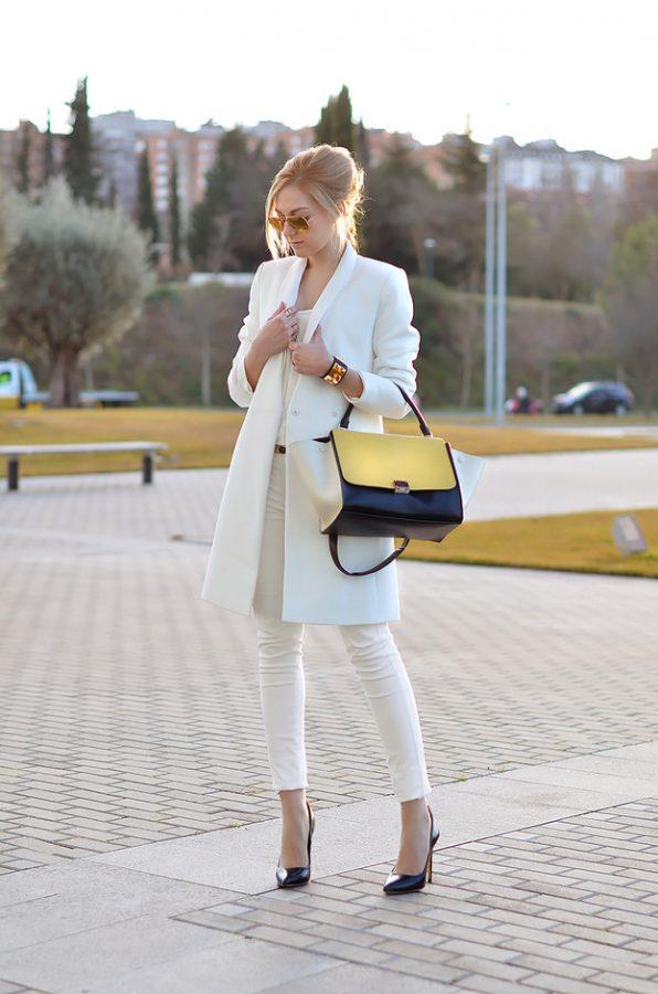 white blazer outfit bmodish