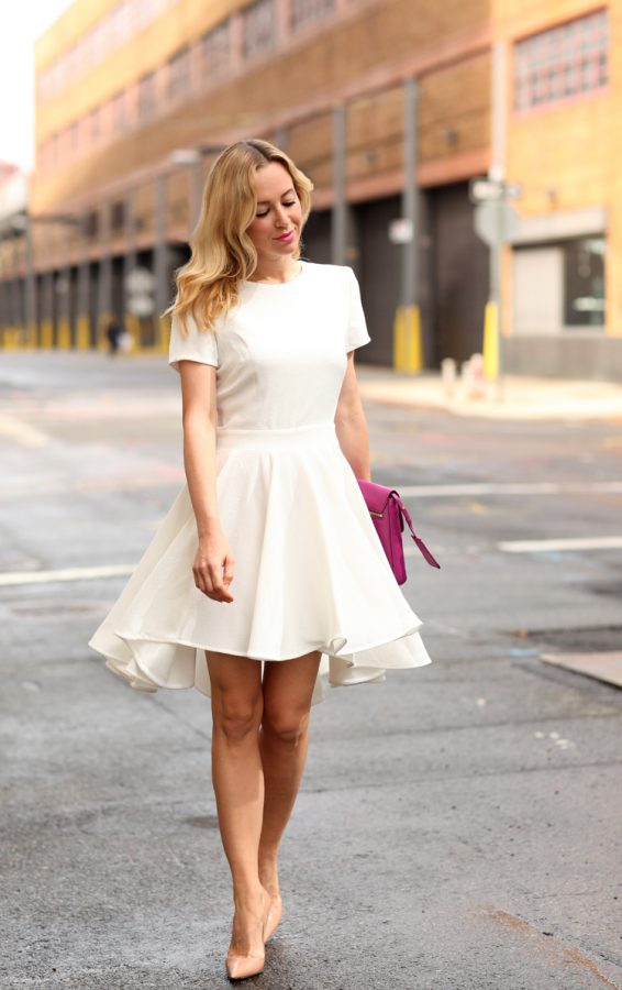 white half high low dress bmodish