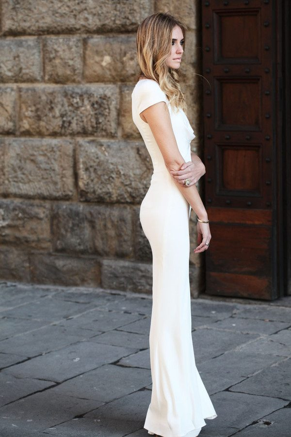 white long maxi dress