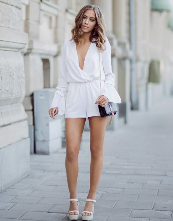 white rompers bmodish