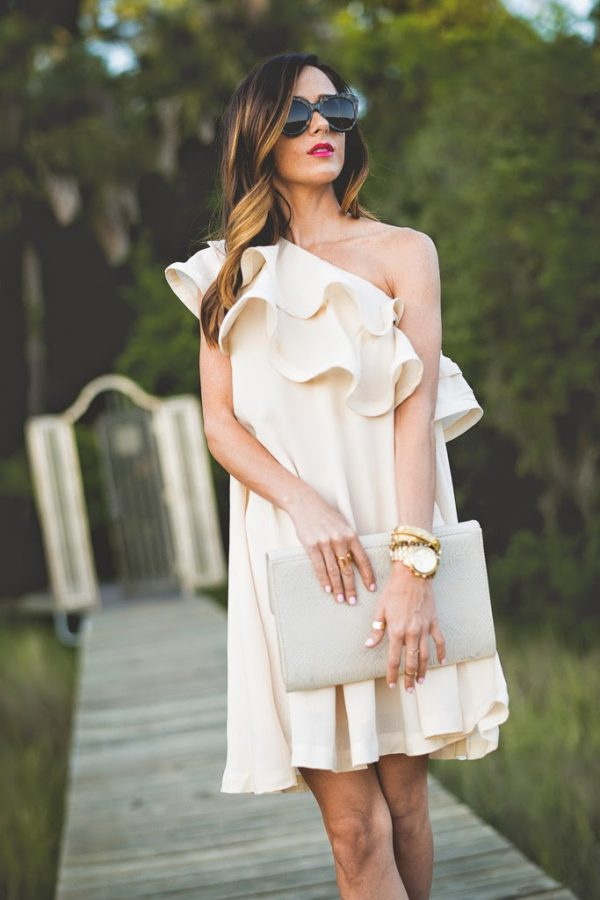 white ruffle dress bmodish 2