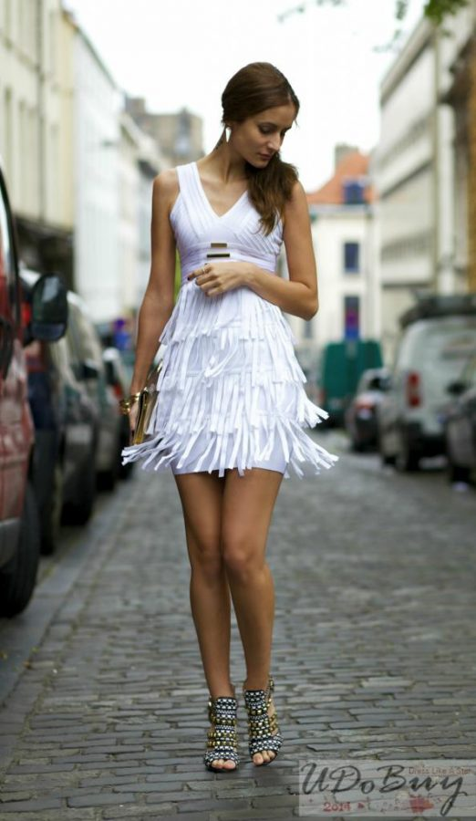 white ruffle dress bmodish