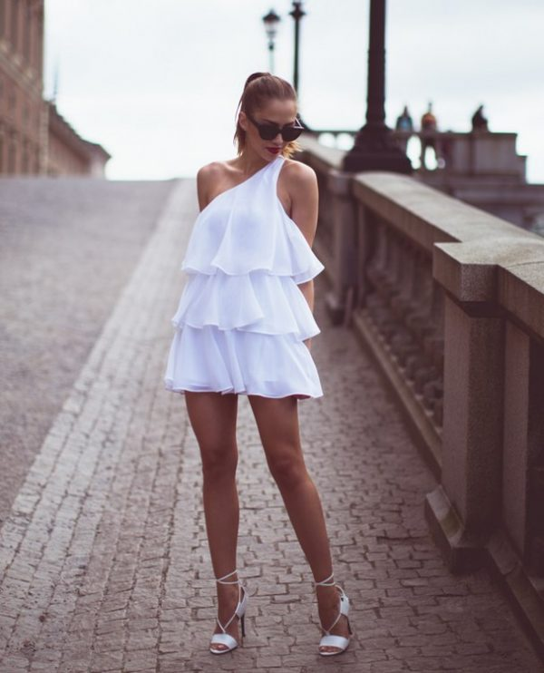 white ruffle summer dress bmodish