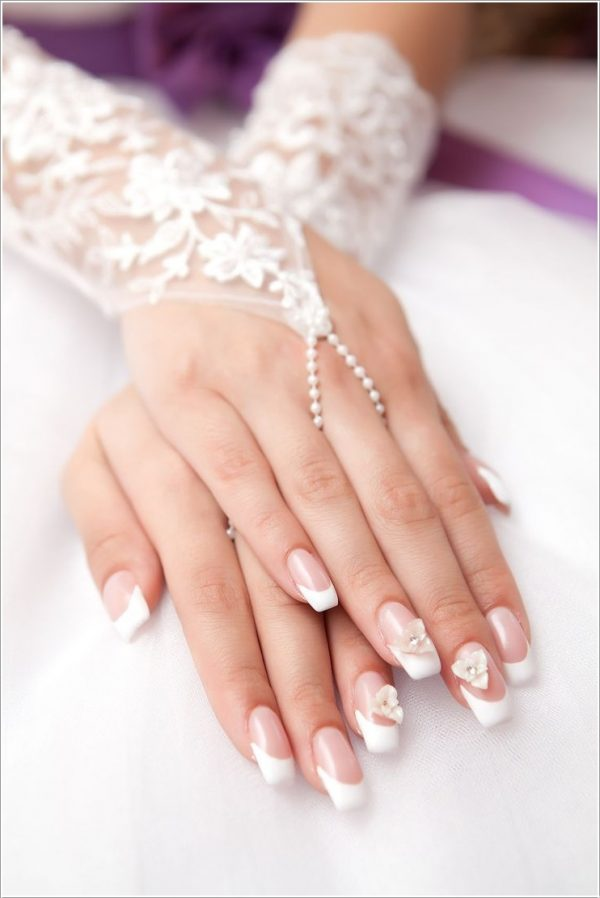 3d Flower Bridal Nails Bmodish Image Beautiful Nail Art For Wedding