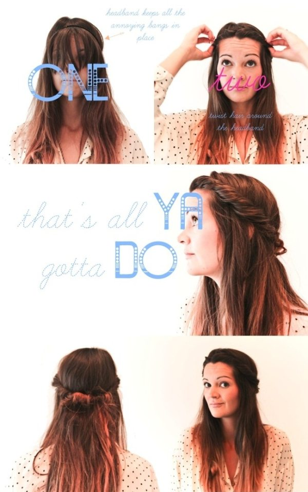 10 Pretty Headband Hairstyle Tutorials