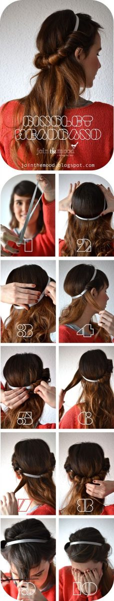 Make-a-Ringlet-Headband hair tutorial bmodish