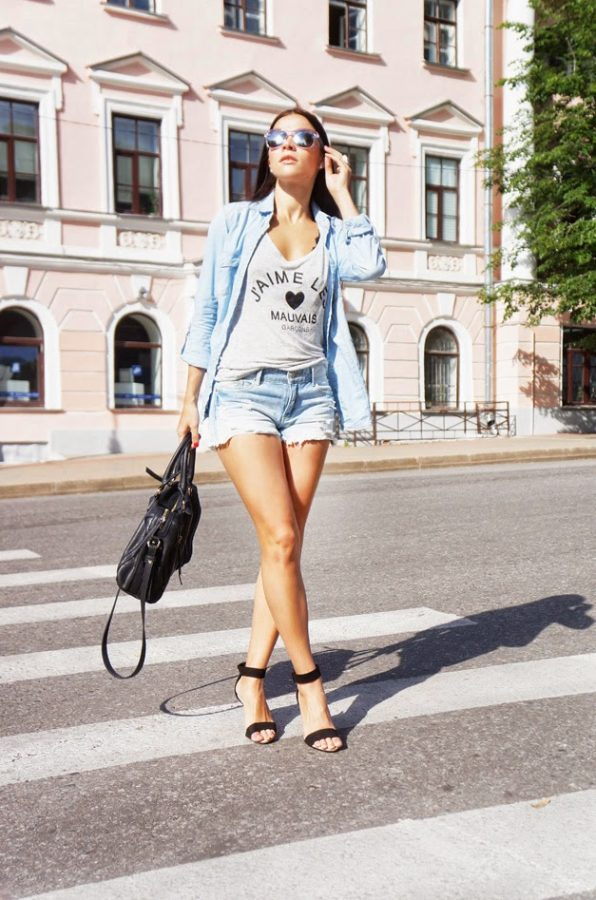 ankle heels casual outfit bmodish