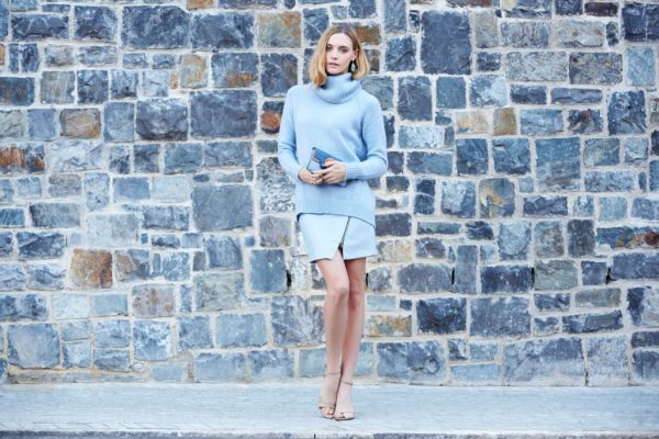 baby blue sweater with skort bmodish