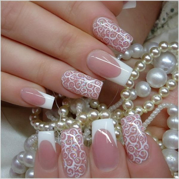 Beautiful French Nail Art Designs: 20 Classy Wedding Nail Art Designs