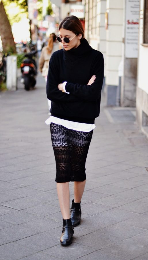 black sweater layer style bmodish