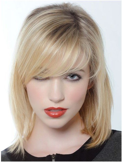 blonde bob medium hairstyle bmodish