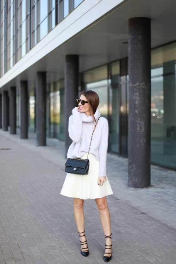 blush pastel sweater outfit bmodish