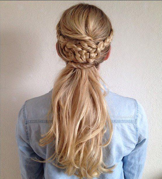 braided half updo bmodish