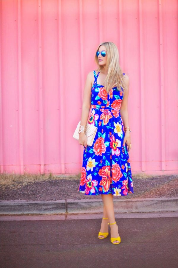 bright floral dress bmodish