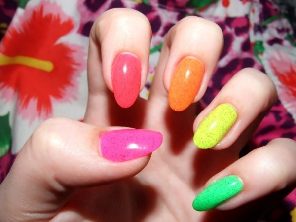 colorful summer nail design bmodish