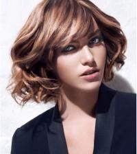curly short bob hairstyle bmodish
