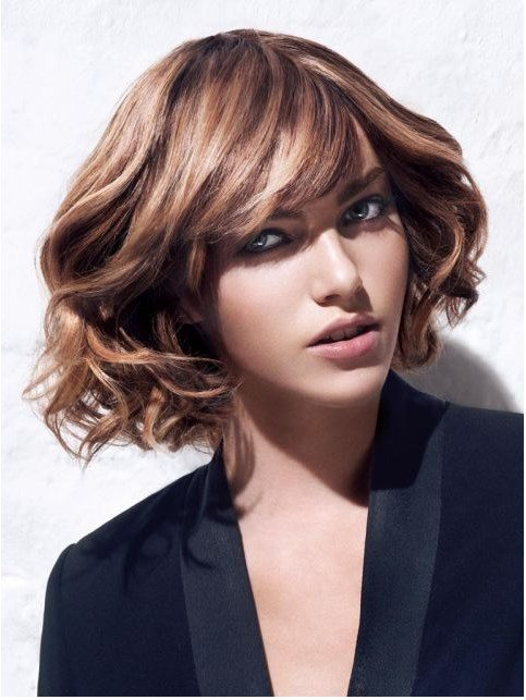 curly short bob hairstyle bmodish