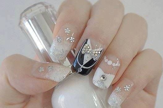 cute wedding nails bmodish