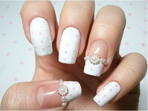 dreamy bridal nail bmodish