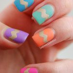 easter chevron nails bmodish