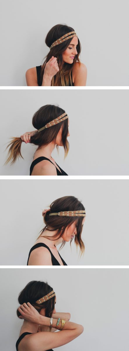 easy headband tuck tutorial bmodish