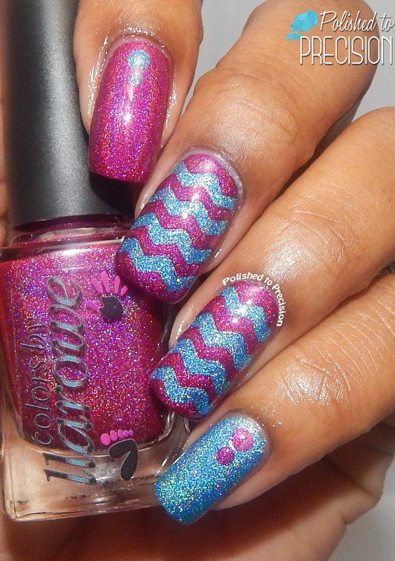 elegant glitter chevron nails bmodish