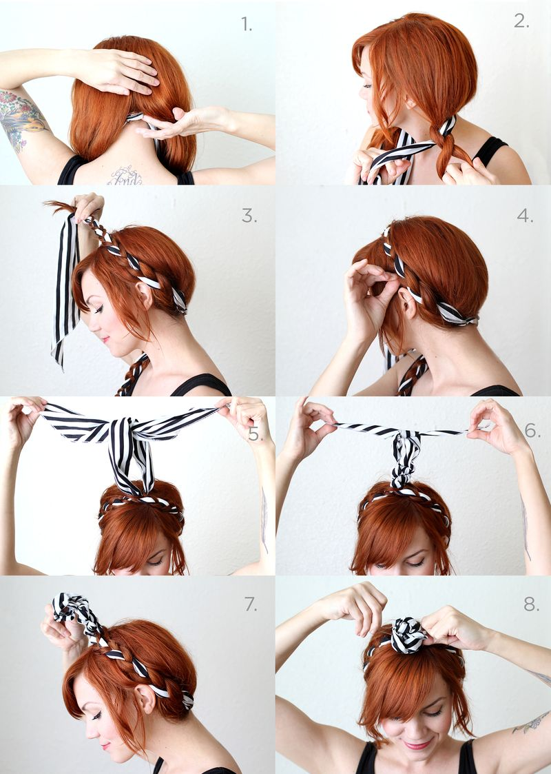 fabric maiden headband braids tutorial bmodish