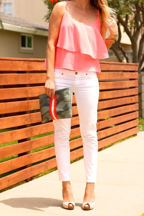 flirty pink ruffle cami bmodish