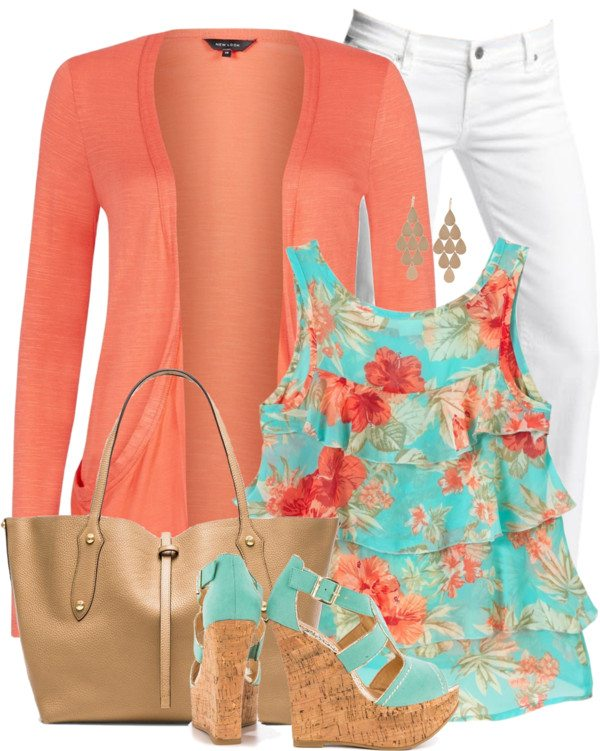 floral tank top outfit 1 bmodish