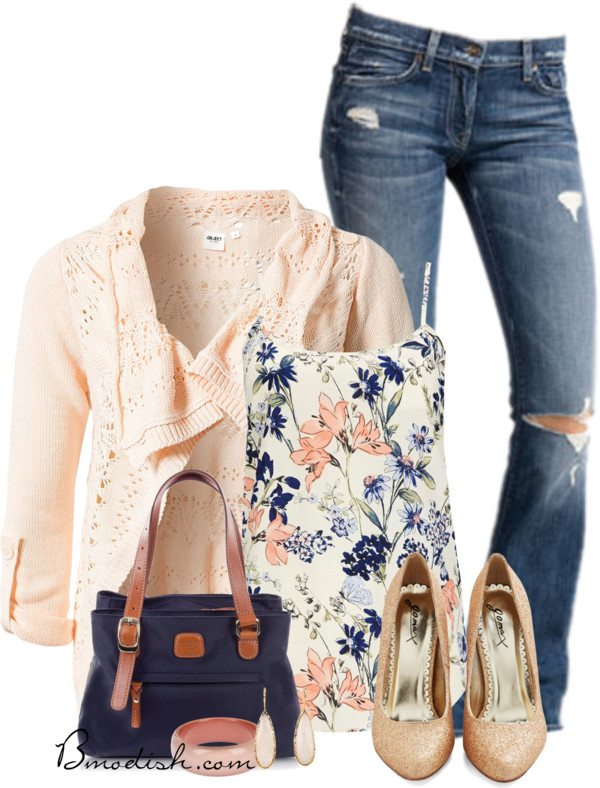 floral tank top outfit 10 bmodish