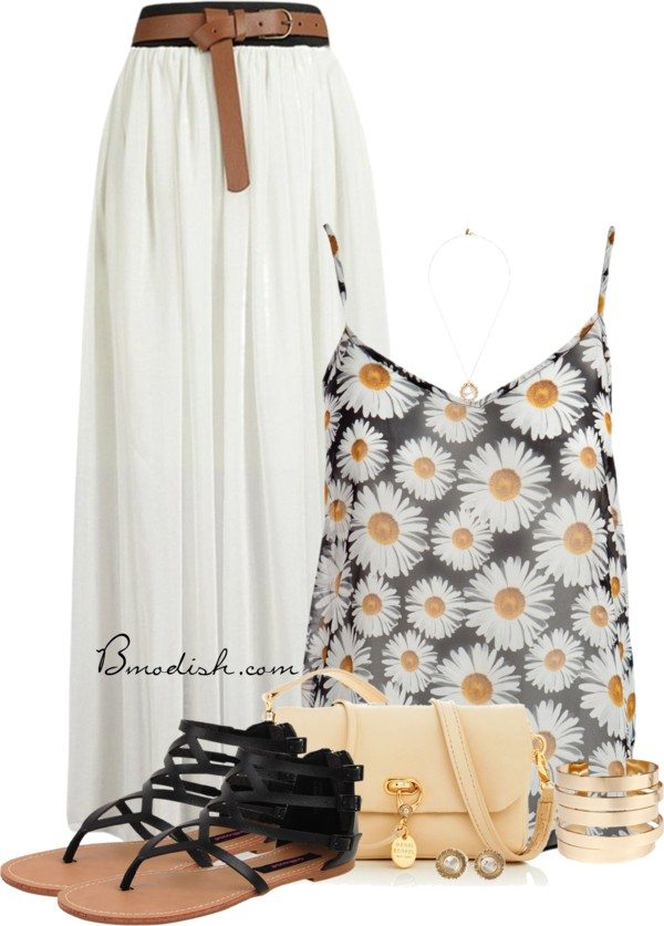 floral tank top outfit 11 bmodish