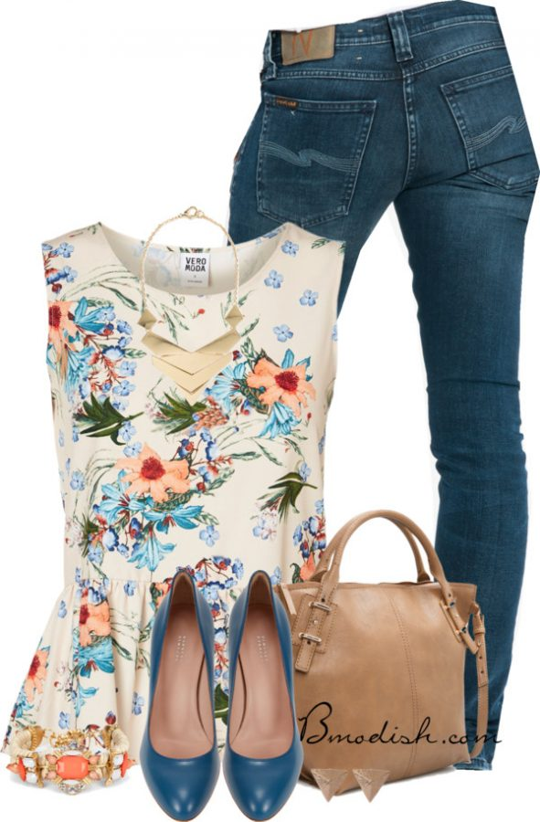 floral tank top outfit 15 bmodish