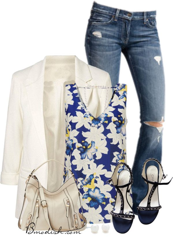 floral tank top outfit 16 bmodish