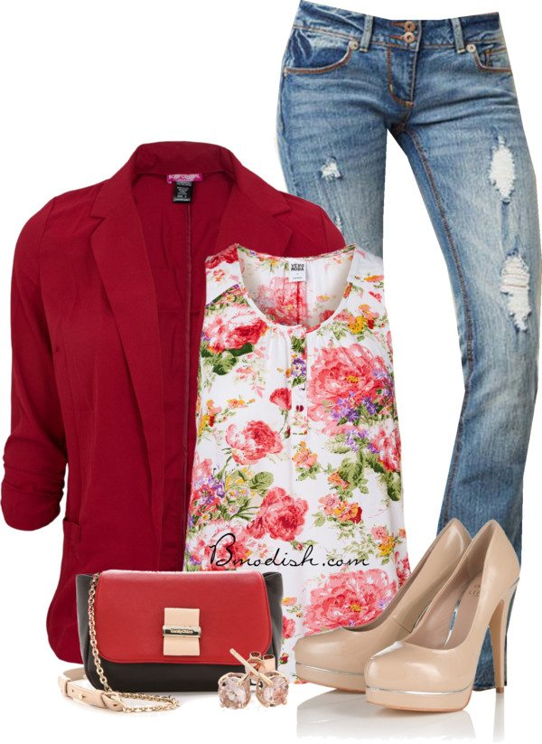 floral tank top outfit 17 bmodish