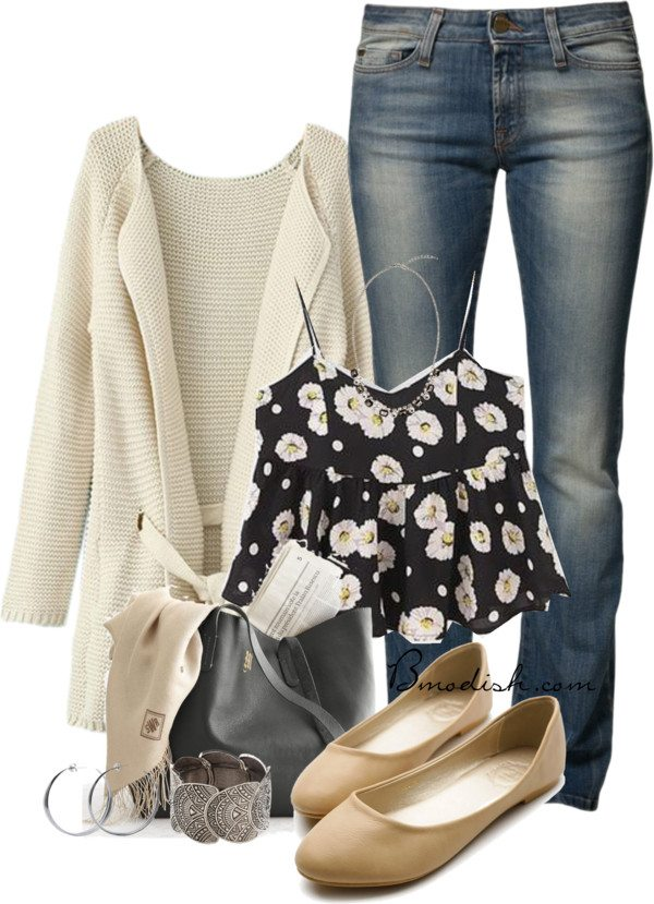 floral tank top outfit 18 bmodish
