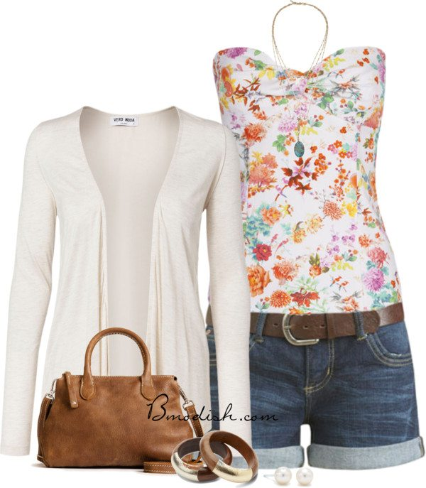 floral tank top outfit 19 bmodish