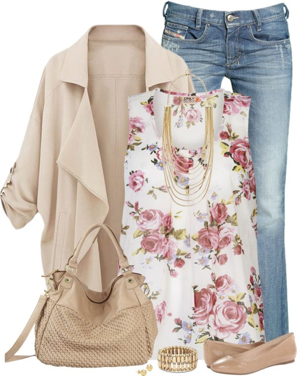 floral tank top outfit 2 bmodish