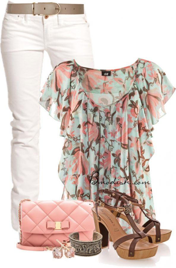 floral tank top outfit 6 bmodish